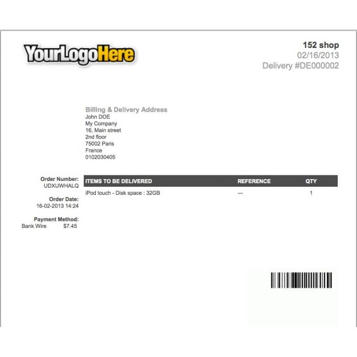 Invoice  Delivery Barcode Generator - PrestaShop Addons