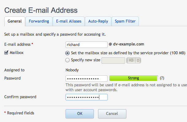 Creating an Email Account - Media Temple