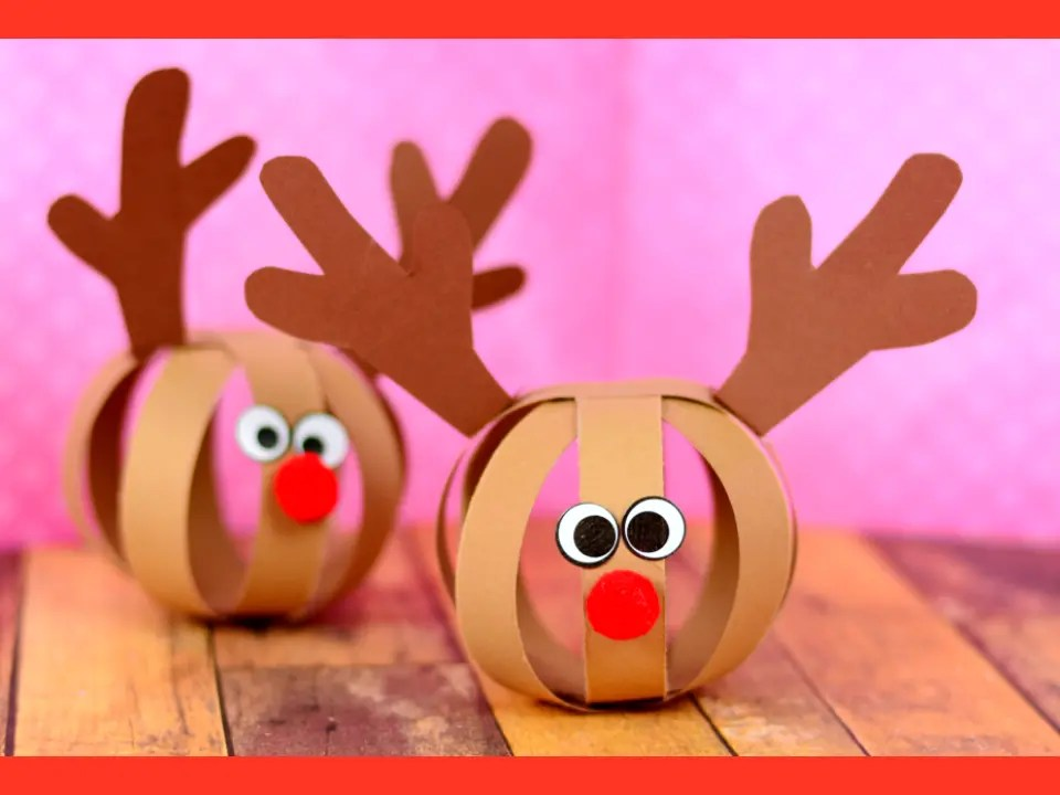 Paper Ball Reindeer Craft - Easy Peasy and Fun