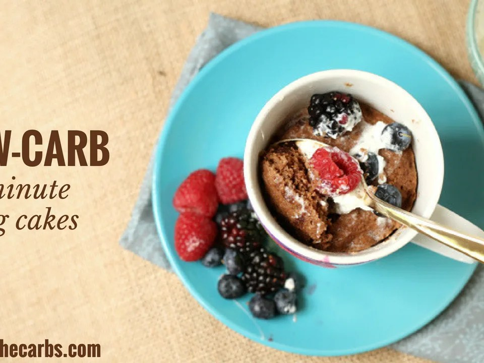 1 minute Low Carb Mug Cakes - NEW cooking video just added!!!