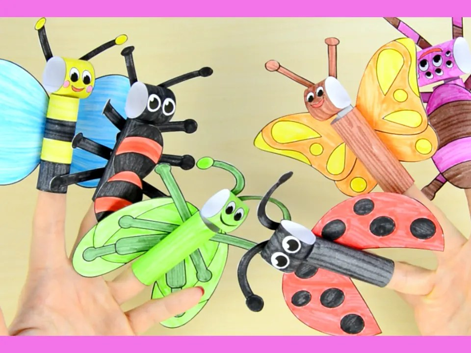 Printable Bugs Finger Puppets - Easy Peasy and Fun