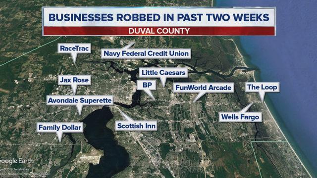 Police search for man in orange vest accused of robbing Atlantic