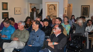 More than 40 people turned out to see the Guild's Mendez prints during LaborFest 2014 activities.  The prints were specially shown at the Mexican Museum in Fort Mason, San Francisco. Photo by Kat Anderson 2014.