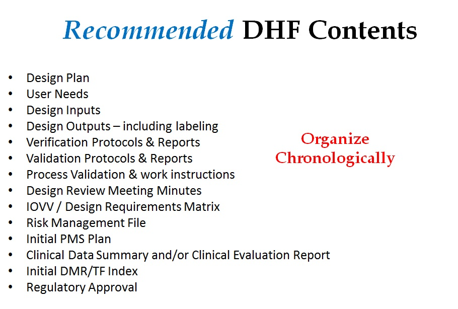 DHF Template - Format and Content of Design History File Medical