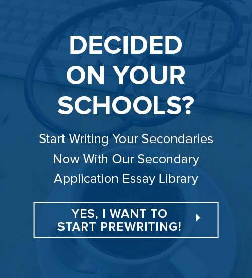Medical School Secondary Application Essay Library