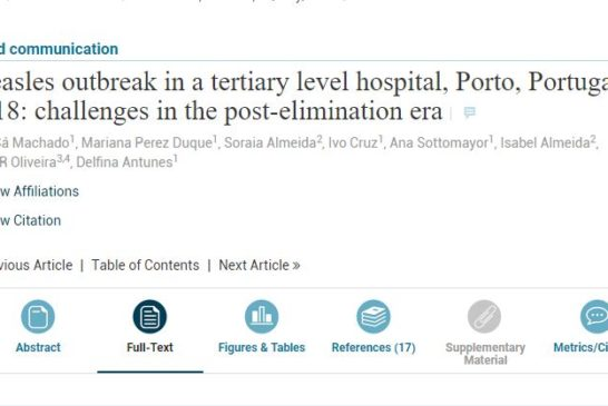 Measles outbreak in a tertiary level hospital, Porto, Portugal, 2018: challenges in the post-elimination era (Traducción Español / Inglés)