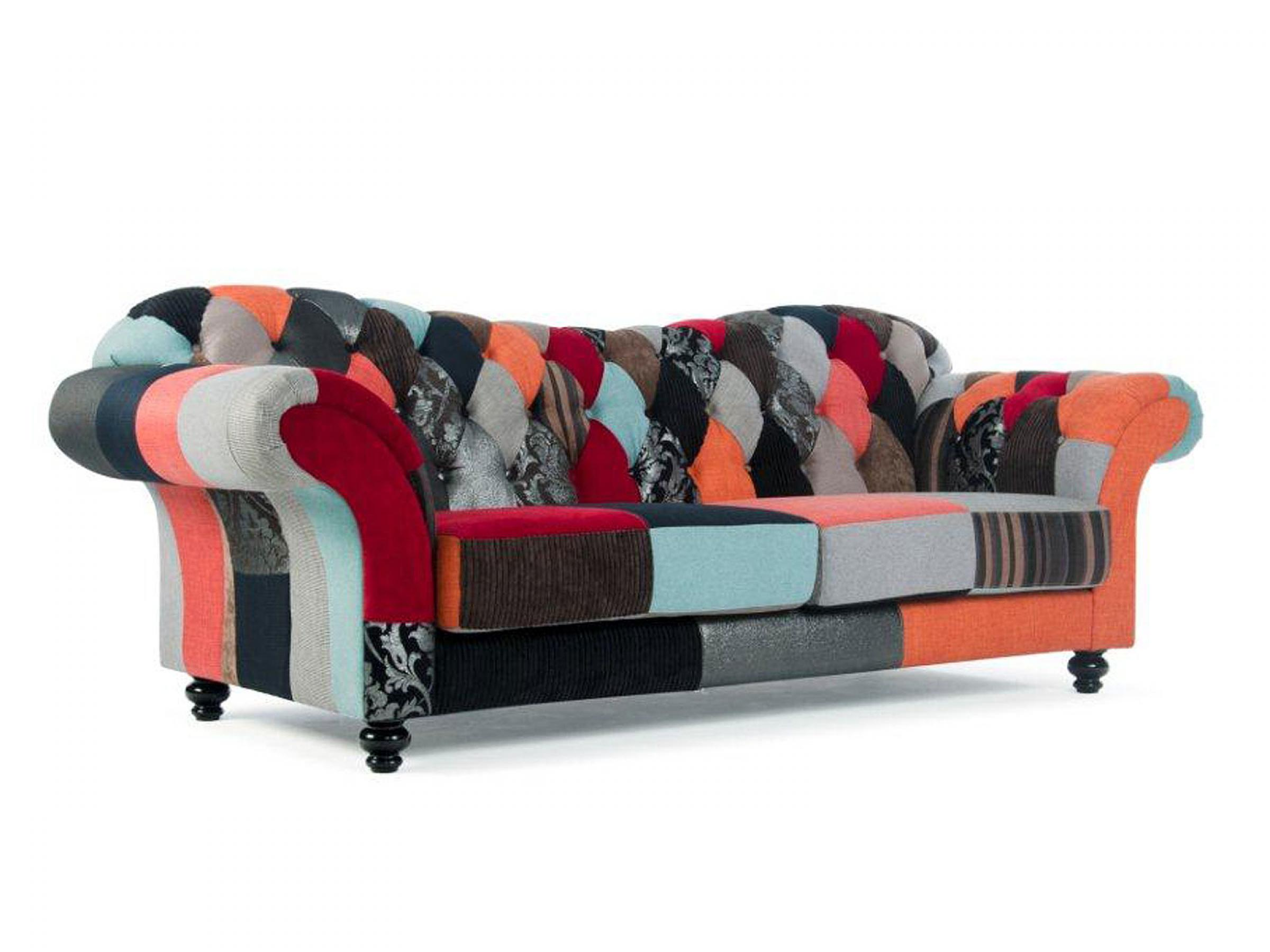 Canapé Chesterfield Patchwork Patchwork Chesterfield Sofa