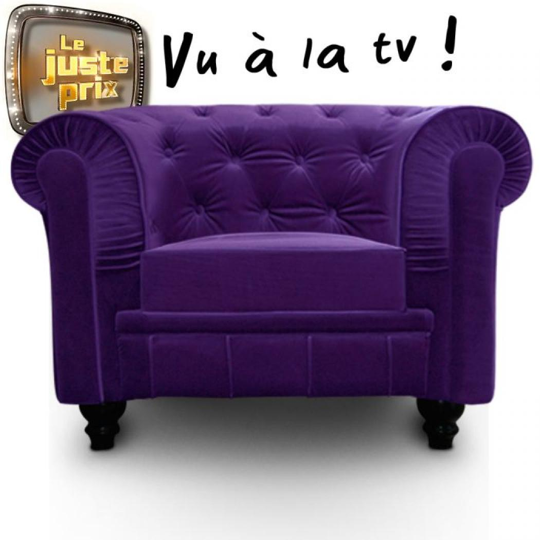 Fauteuils Chesterfield Velours Photos Canapé Chesterfield Velours Violet