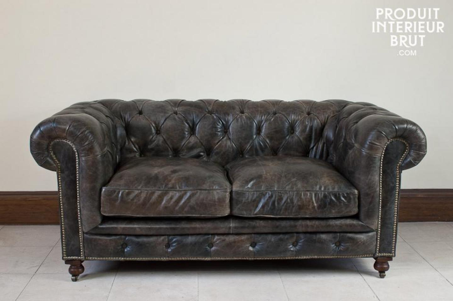 Canapé Marron Vieilli Convertible Photos Canapé Chesterfield