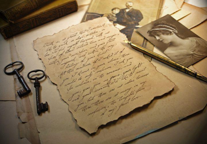 Custom Love Letter on Vintage Style Paper, Old Script, Antique