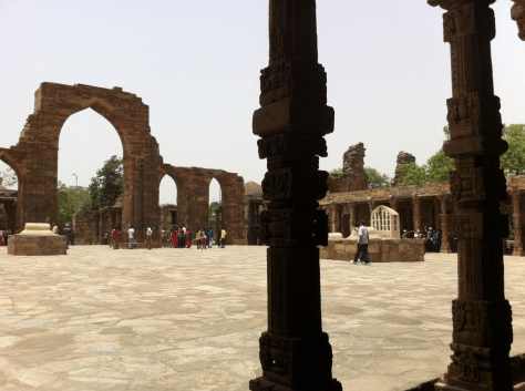 Remains of Quwwat al-Islam Mosque in New Delhi, India. Image.