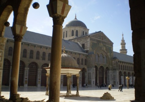 The Great Umayyad Mosque in Damascus, Syria. Image.