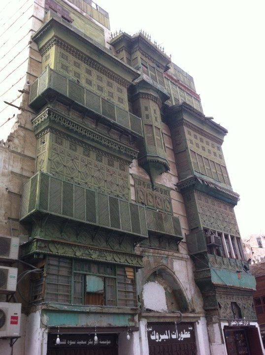 Rawashin (mashrabiyyahs) on a house in Jeddah Image