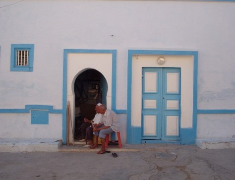 A scene from a residential area in Qayrawan, Tunisia.