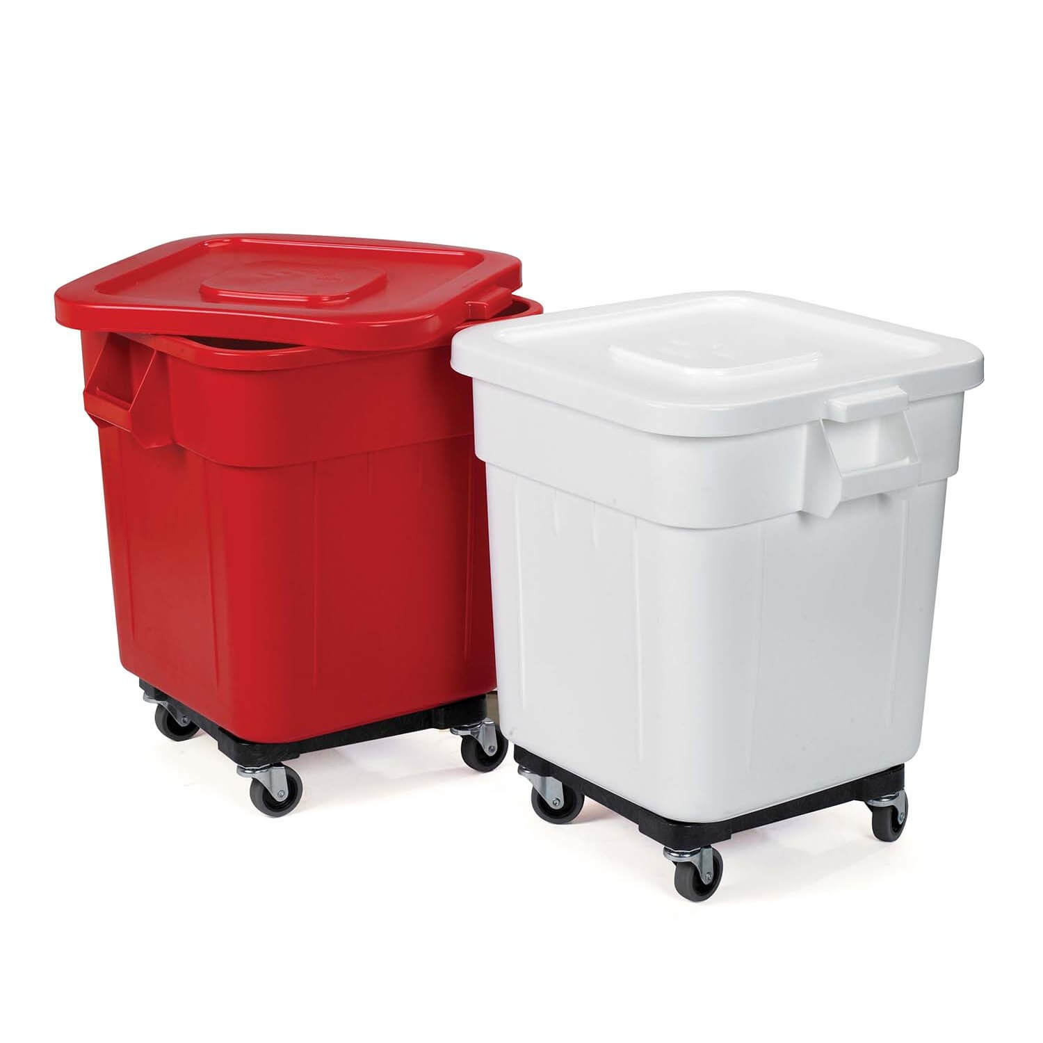 Laundry Bin With Wheels Huskee Laundry Bin 140 Litre Capacity Red Or White 57