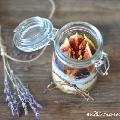 Lavender Honey-Caramelized Figs and Pine Nuts with Yoghurt Cream