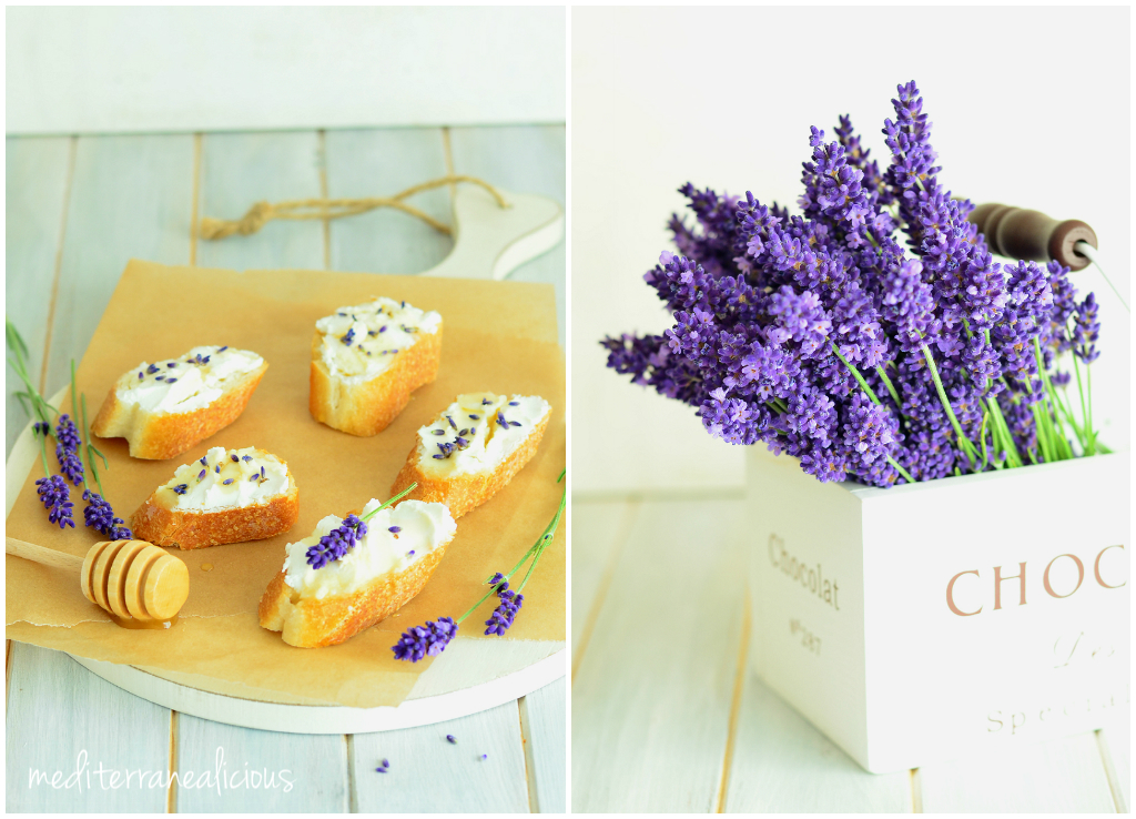 lavender with goat cheese & honey 1