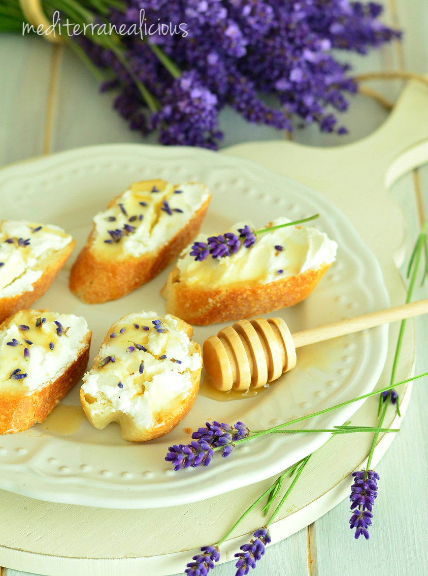 lavender with goat cheese & honey 5