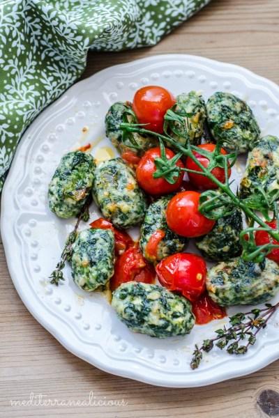 Spinach-Ricotta Gnocchi with Fresh Cherry Tomato Sauce