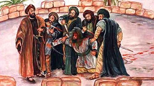 Kinana ibn al Rabi mučený a zabitý prorokom Mohamedom & moslimami
