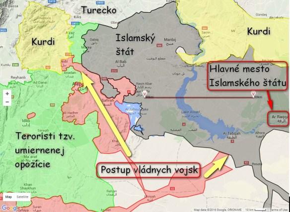 Mapa Syrie