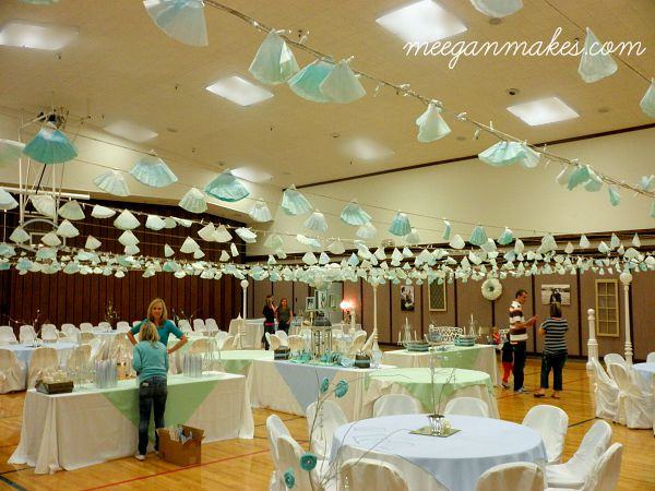 Coffee Filter Ceiling at a Reception