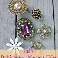 DIY Refrigerator Magnets Using Vintage Broaches and Pins