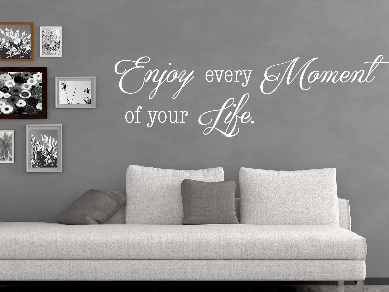 "Keuken Meubel Muursticker ""enjoy Every Moment Of Your Life"""