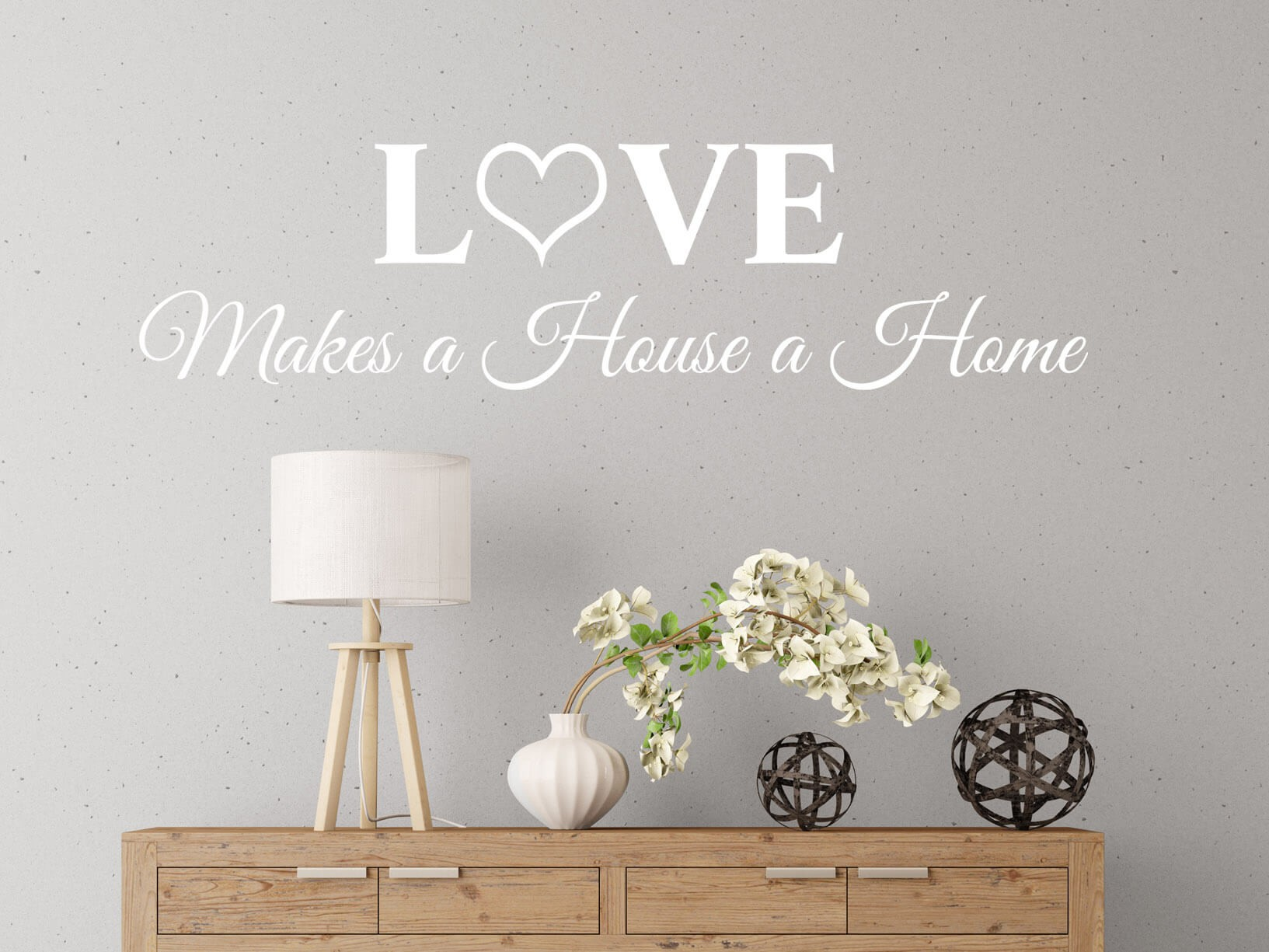 Muursticker Woonkamer Wit Muursticker Quotlove Makes A House A Home Quot Sierletters