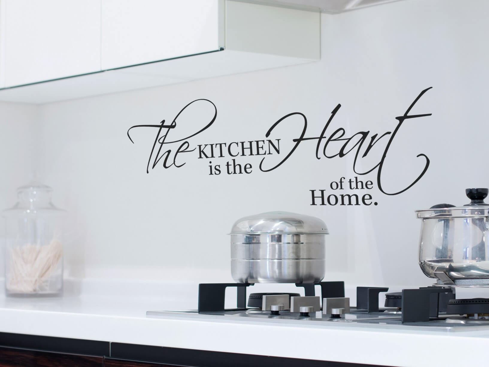 "Muurstickers Zwart Muursticker ""the Kitchen Is The Heart Of The Home"""