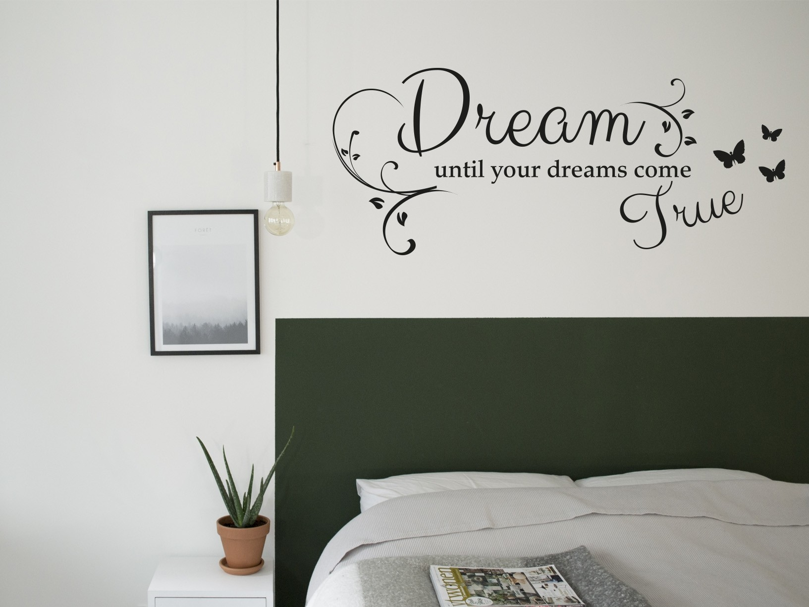 "Zelf Kast Samenstellen Muursticker ""dream Until Your Dreams Come True"""