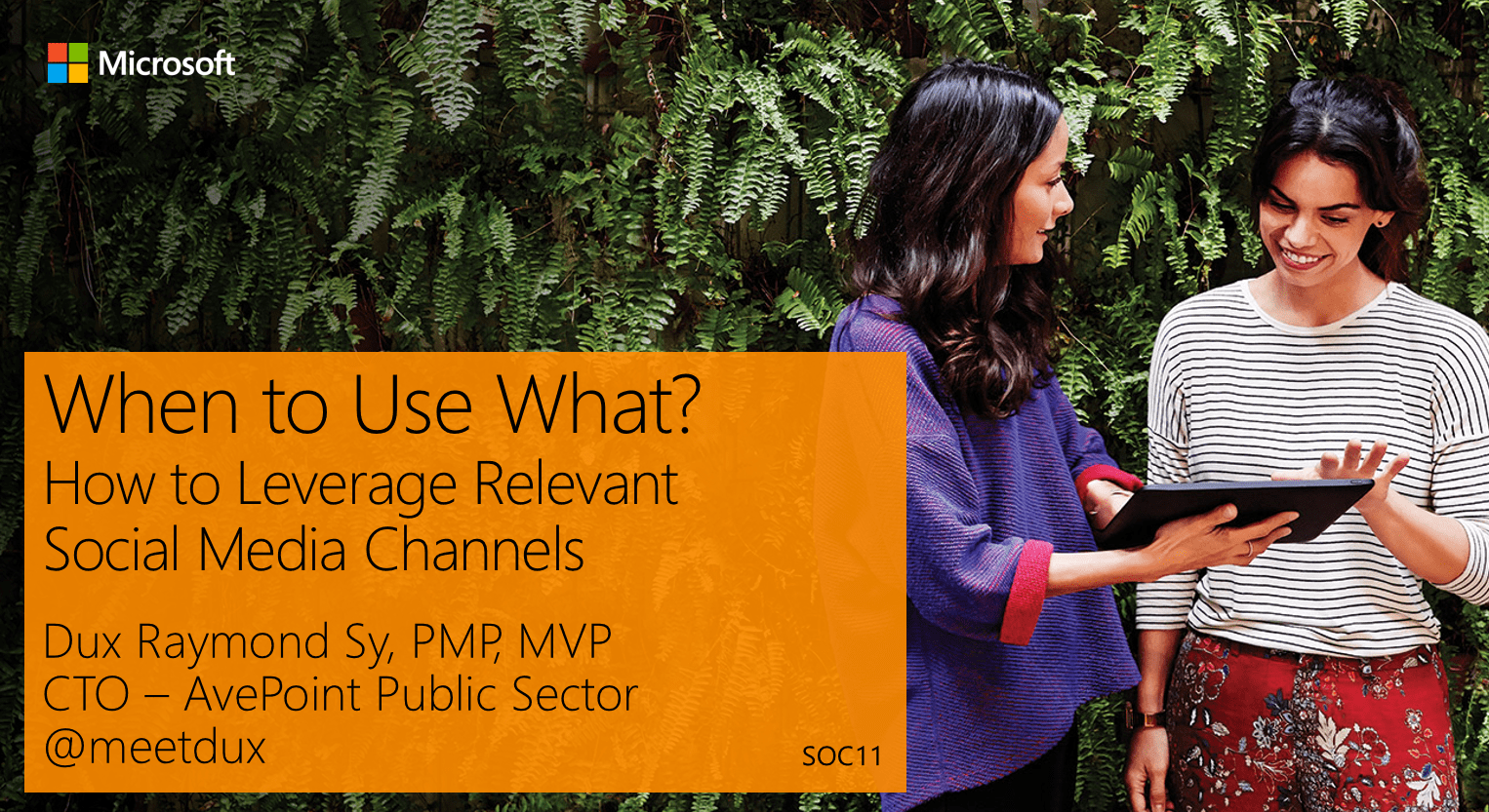 When to use what? How to leverage relevant social media channels #wpc15
