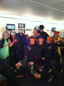Costume party...what a motley crew!