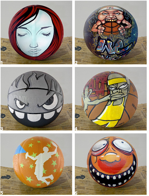 Official NBA Painted Basketball
