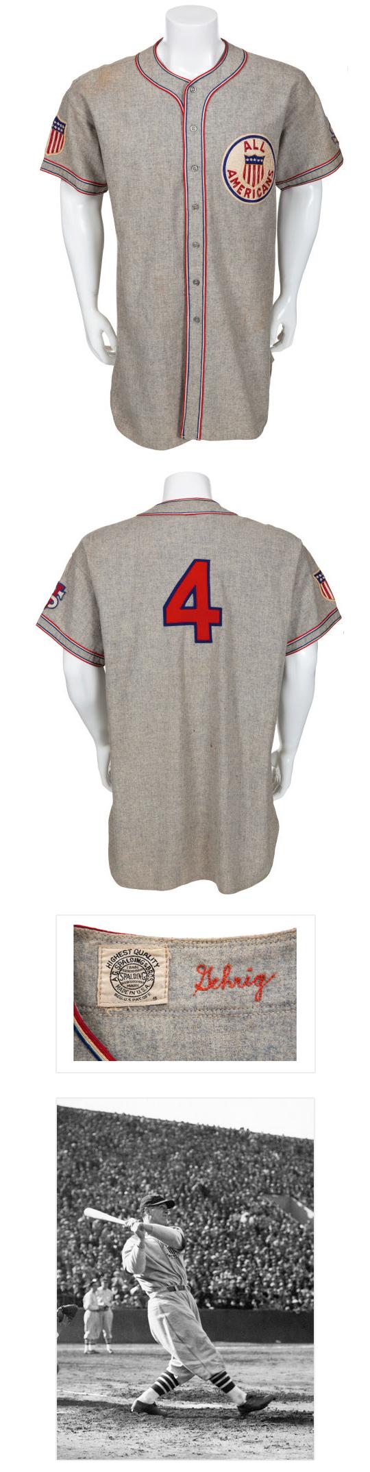 1934 Lou Gehrig Tour of Japan Game Worn Uniform.