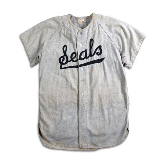 SF SEALS 1954 GAME-USED GORDY BRUNSWICK JERSEY