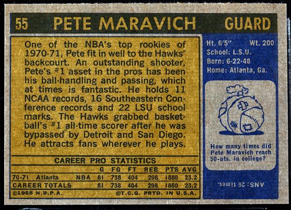 1971 Topps Pete Maravich #55