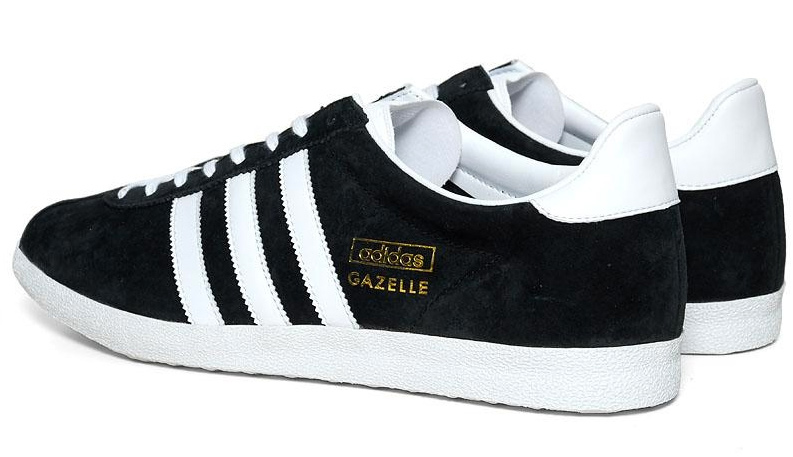 adidas gazelle og black and white