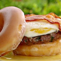 Gateway Grizzlies Krispy Kreme Burger (est.1,500 Calories)
