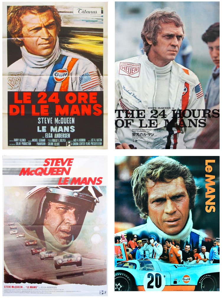 steve mcqueen le mans movie posters. Black Bedroom Furniture Sets. Home Design Ideas