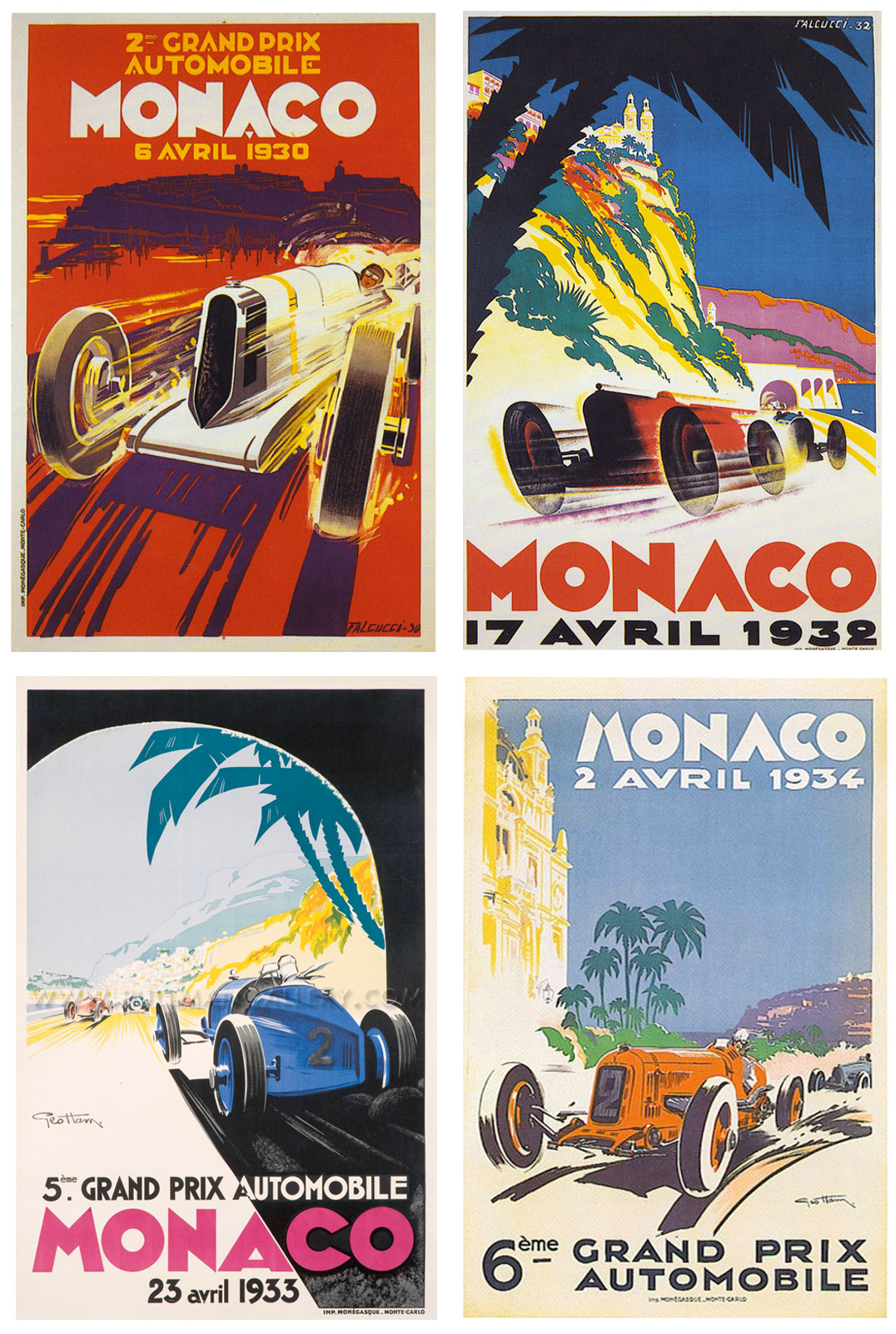 1930-34 :: Monaco Grand Prix Posters :: Pullman Gallery