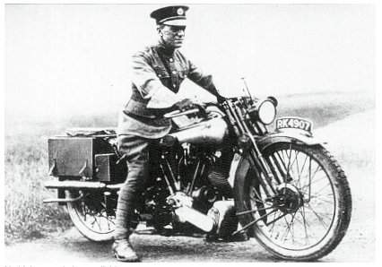 Thomas Edward Lawrence on a Brough Superior