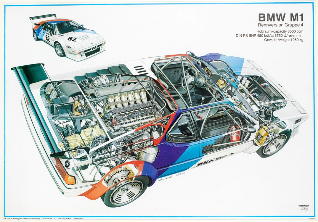 1979 BMW M1 Pro-Car Championship Factory Poster :: Bonhams