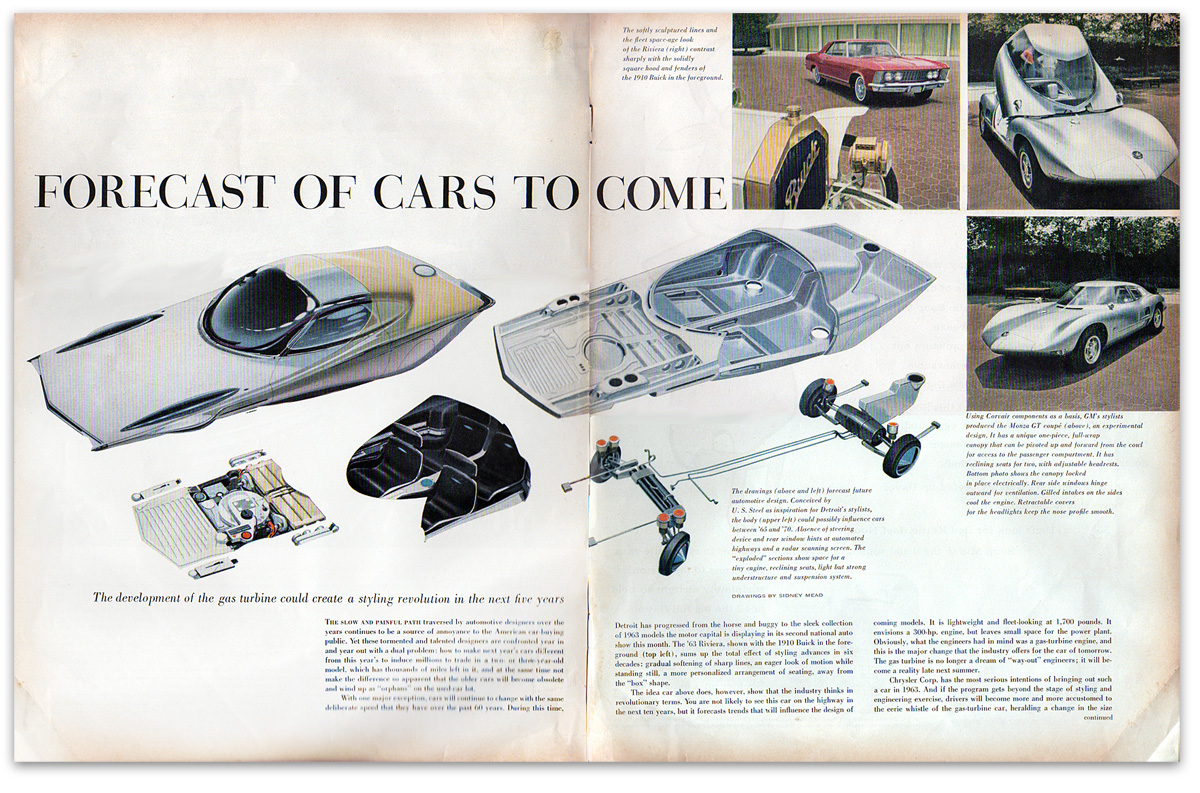 1963: Forecast Of Cars To Come :: Syd Mead