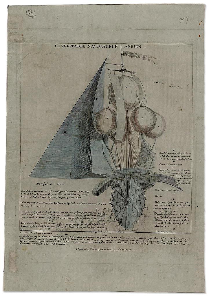 Le Veritable Navigateur Aerien (circa 1790) :: Library of Congress