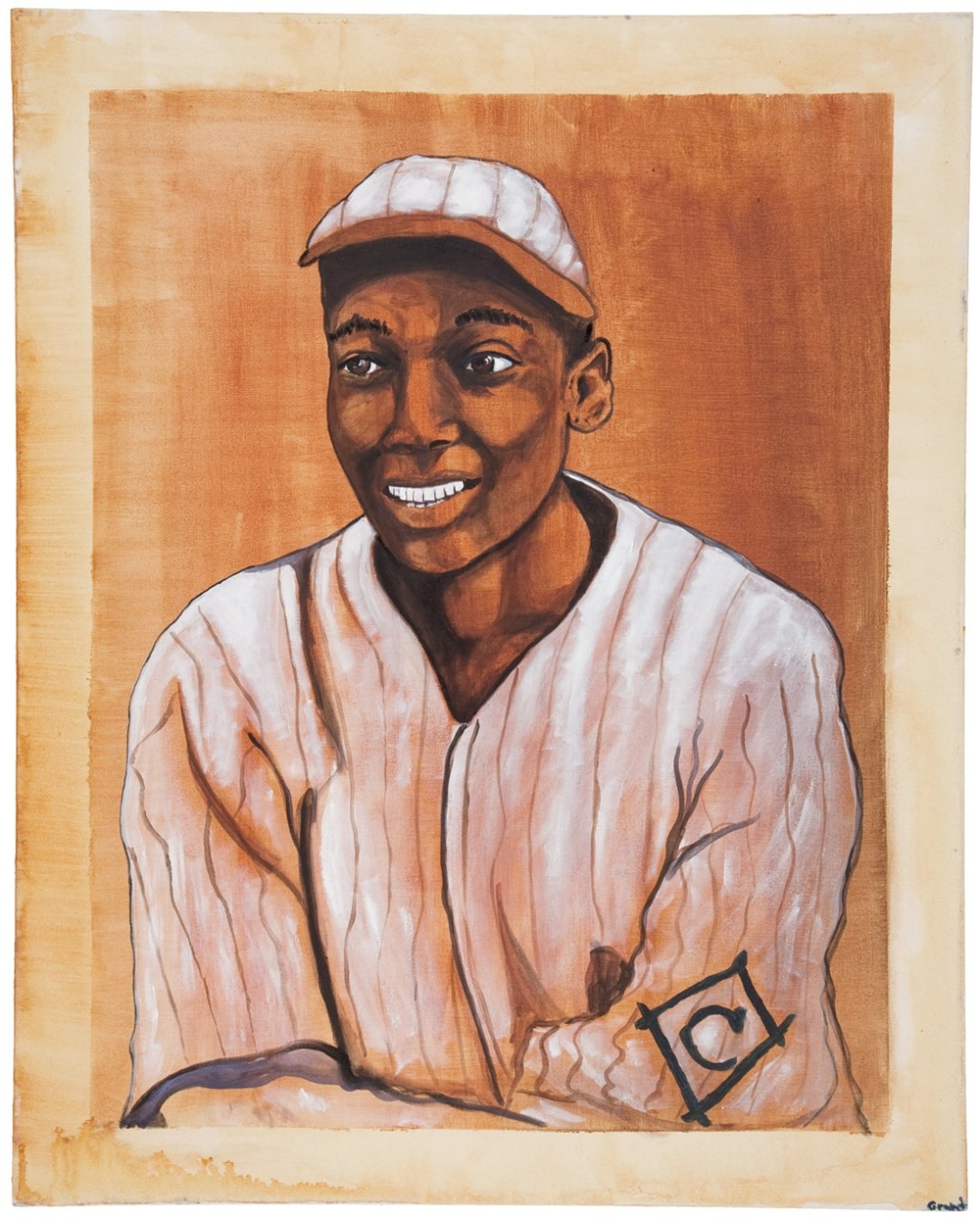 Cool Papa Bell Original Oil Painting