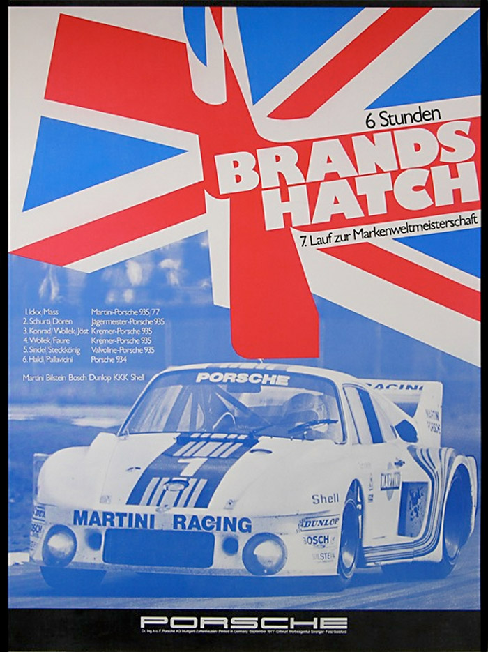PORSCHE RACE CAR BRANDS HATCH (1975-80) :: Master Posters