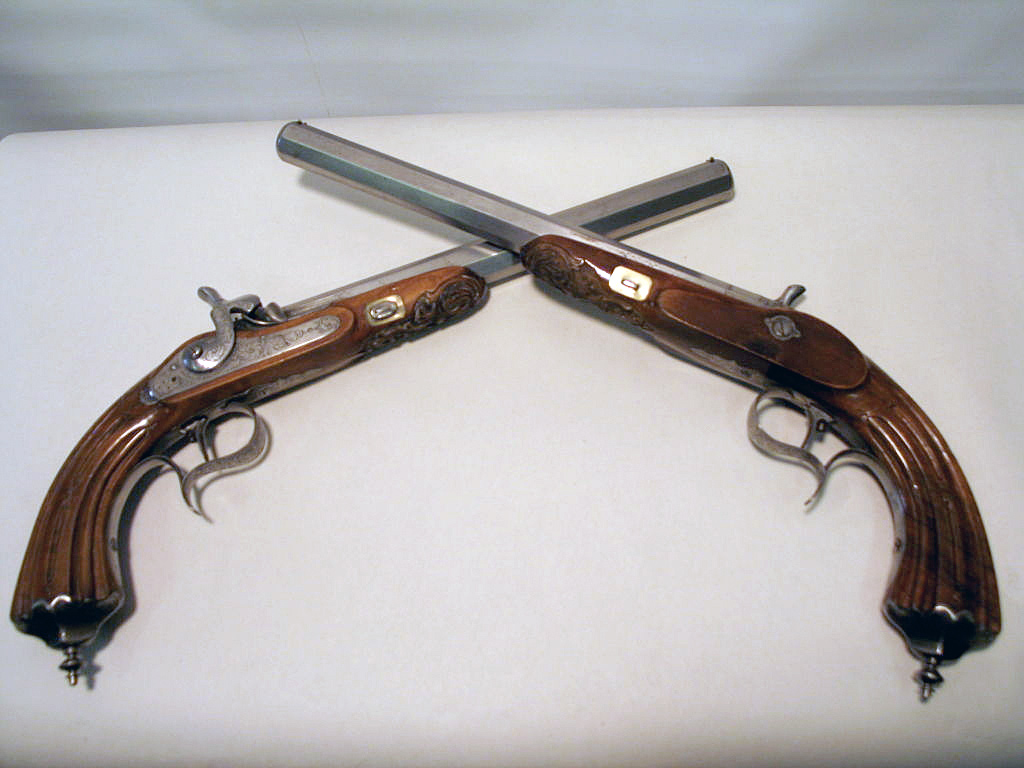 French Dueling Pistols :: Early 19th century (1)