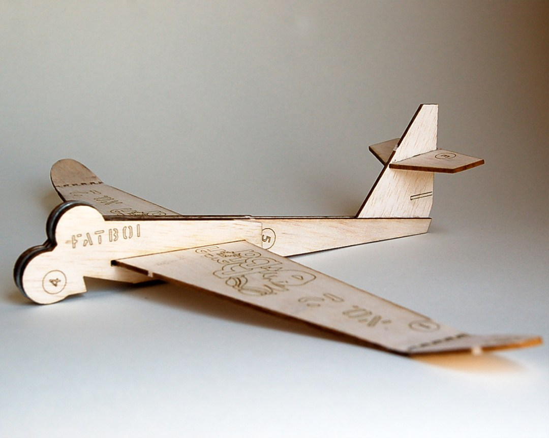 2x Balsa Airplane: The Fatboi (No.2) (2)