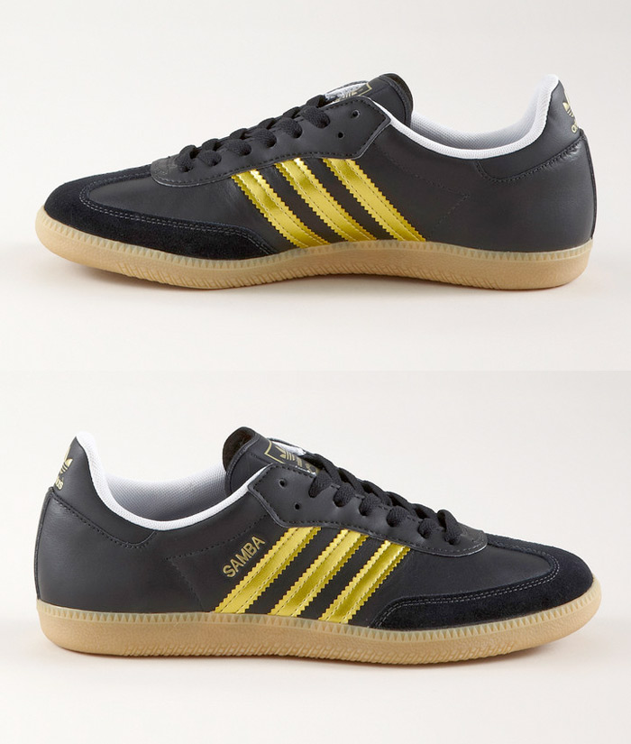 Adidas Sambas - Gold Stripes :: frontlineshop (2)